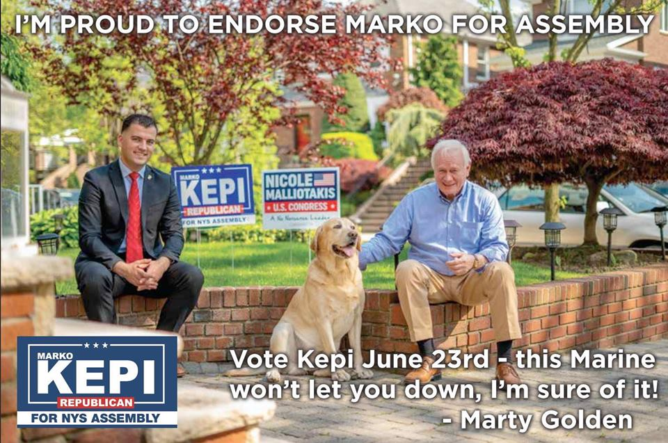 Senator Marty Golden endorses MARKO KEPI for Assembly!
